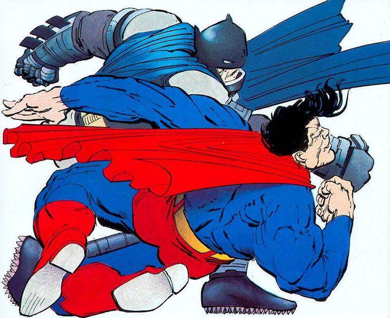 W wersji Franka Millera Batman iSuperman żyli też nadiecie McDonaldowej.