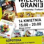 """Turniej gier planszowych """"Wielkie Granie"""" z Sopoteką i Treflem!"""
