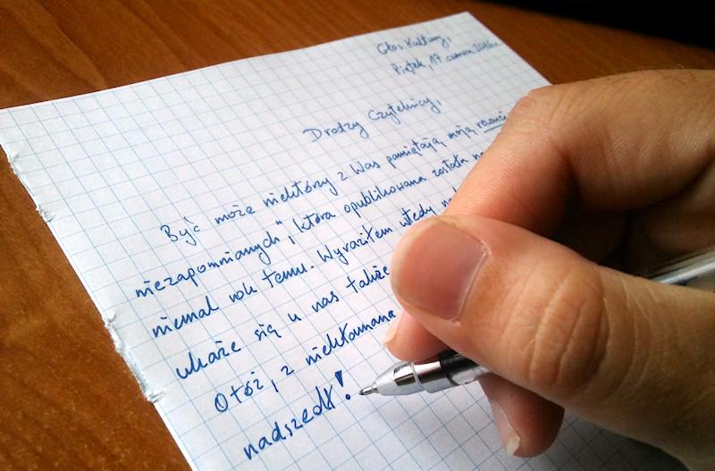 pisze sobie