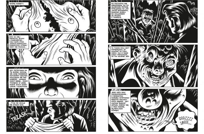 strony zkomiksu Black Hole